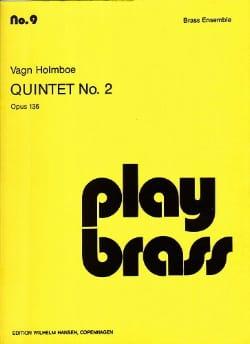 Quintet N° 2 Opus 136 Vagn Holmboe Partition laflutedepan