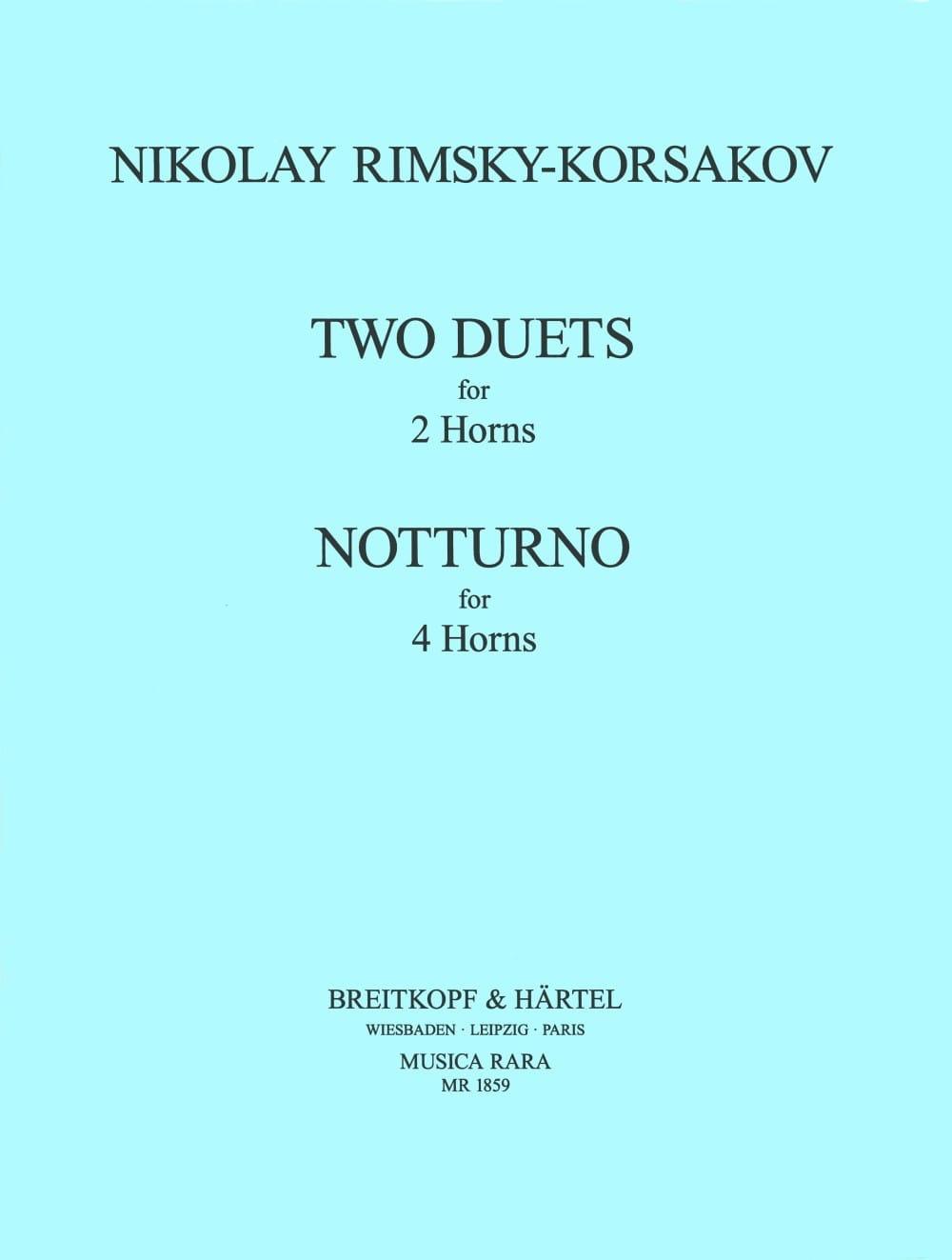2 Duets 2 Cors Notturno 4 Cors - RIMSKY-KORSAKOV - laflutedepan.com