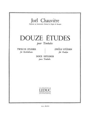 12 Etudes Joël Chauvière Partition Timbales - laflutedepan