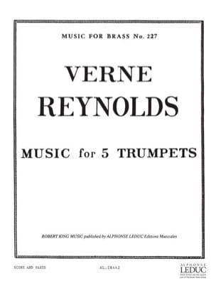 Music for 5 Trumpets Verne Reynolds Partition Trompette - laflutedepan