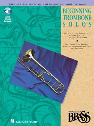 Beginning Trombone Solos Partition Trombone - laflutedepan
