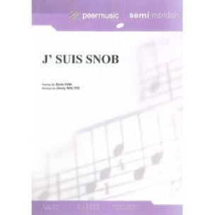J' Suis Snob - Boris Vian - Partition - laflutedepan.com