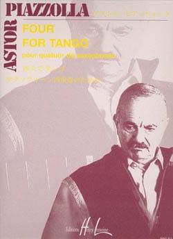 Four for tango Astor Piazzolla Partition Saxophone - laflutedepan