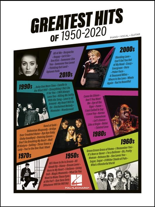 Greatest Hits of 1950-2020 - Partition - laflutedepan.com