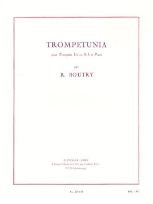 Trompetunia Roger Boutry Partition Trompette - laflutedepan