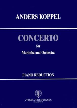 Concerto N° 1 for marimba Anders Koppel Partition laflutedepan