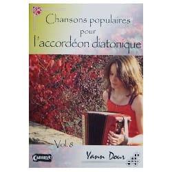 Chansons Populaires Pour L' Accordéon Diatonique Volume 8 laflutedepan
