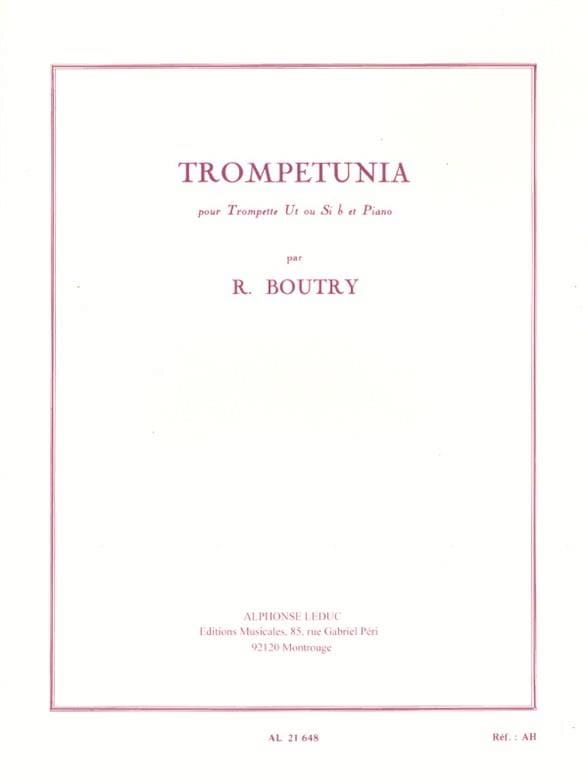 Trompetunia - Roger Boutry - Partition - Trompette - laflutedepan.com