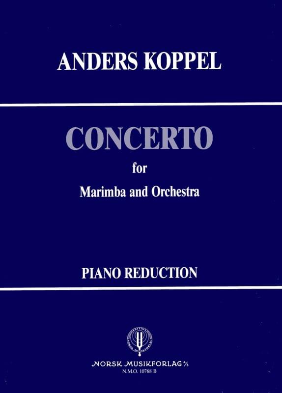Concerto N° 1 for marimba - Anders Koppel - laflutedepan.com