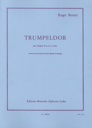 Trumpeldor Roger Boutry Partition Trompette - laflutedepan
