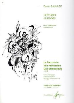 12 Etudes Pour Vibraphone Daniel Sauvage Partition laflutedepan