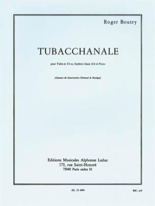 Tubacchanale Roger Boutry Partition Tuba - laflutedepan