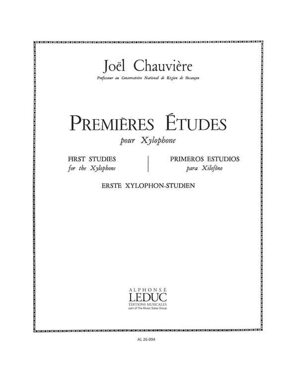 Premieres Etudes - Joël Chauvière - Partition - laflutedepan.com