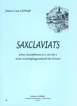 Saxclaviats Jean-Luc Lepage Partition Saxophone - laflutedepan