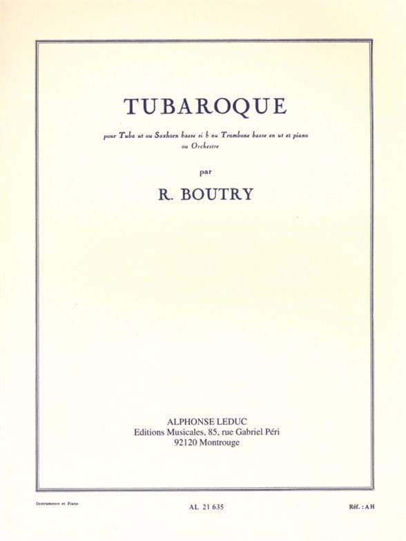 Tubaroque - Roger Boutry - Partition - Tuba - laflutedepan.com