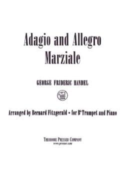 Adagio And Allegro Marziale HAENDEL Partition Trompette - laflutedepan