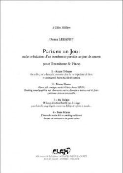 Paris en un Jour Denis Leloup Partition Trombone - laflutedepan