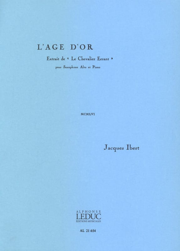 Age d'Or - IBERT - Partition - Saxophone - laflutedepan.com