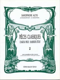 Pièces Classiques Volume 2 Partition Saxophone - laflutedepan