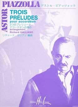 Trois préludes Astor Piazzolla Partition Accordéon - laflutedepan