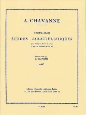 25 Etudes Caractéristiques - Chavanne - Partition - laflutedepan.com