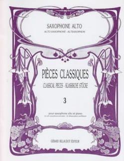Pièces Classiques Volume 3 Partition Saxophone - laflutedepan