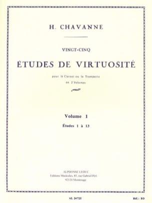 25 Etudes de Virtuosité Volume 1 - Etudes 1 à 13 Chavanne laflutedepan