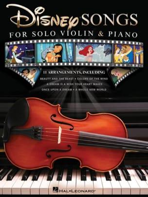 Disney Songs for Solo Violin & Piano DISNEY Partition laflutedepan