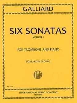 Six Sonatas Volume 1 John E. Galliard Partition laflutedepan