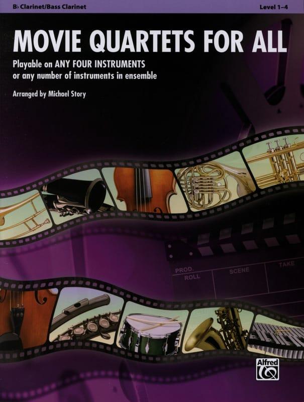 Movie quartets for all - Partition - Clarinette - laflutedepan.com