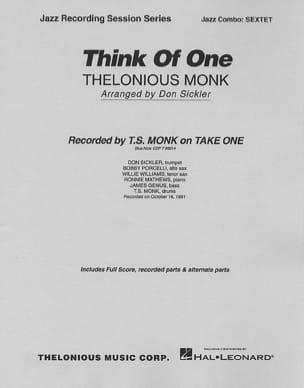 Think Of One Thelonious Monk Partition ENSEMBLES - laflutedepan