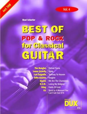 Best of pop & rock for classical guitar volume 4 laflutedepan