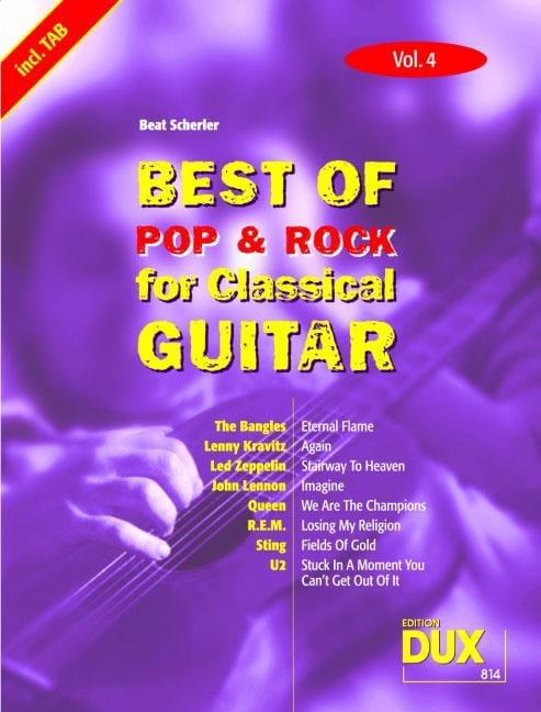 Best of pop & rock for classical guitar volume 4 - laflutedepan.com