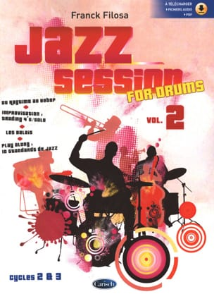 Jazz Session For Drums - Volume 2 Franck Filosa Partition laflutedepan