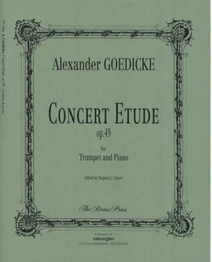 Concert etude opus 49 Alexander Goedicke Partition laflutedepan