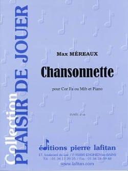 Chansonnette Max Méreaux Partition Cor - laflutedepan