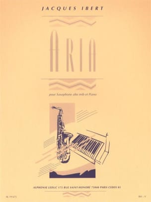 Jacques Ibert - Aria - Partition - di-arezzo.co.uk