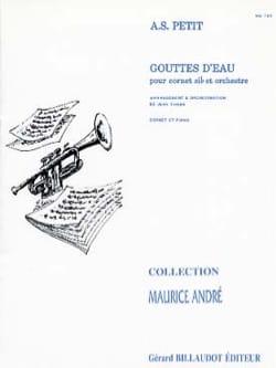 Gouttes D'eau Alexandre Petit Partition Trompette - laflutedepan