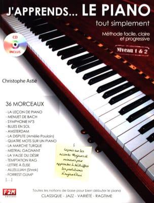 J'apprends... le piano tout simplement Christophe Astié laflutedepan