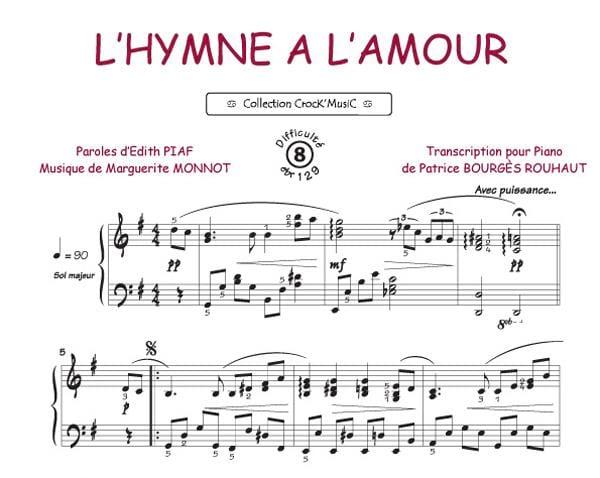 L'Hymne A L'Amour - Edith Piaf - Partition - laflutedepan.com