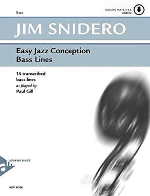 Easy Jazz Conception - Bass Lines Jim Snidero Partition laflutedepan