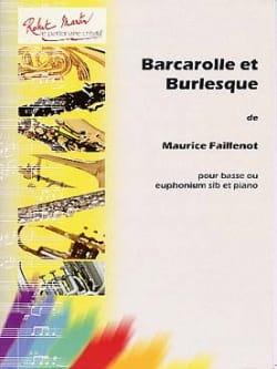 Barcarolle Et Burlesque Maurice Faillenot Partition laflutedepan