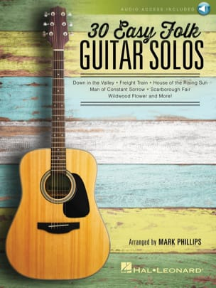30 Easy Folk Guitar Solos Traditionnels Partition laflutedepan