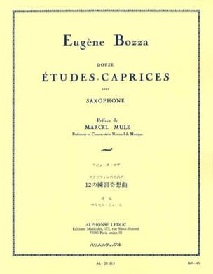 12 Etudes-Caprices Eugène Bozza Partition Saxophone - laflutedepan