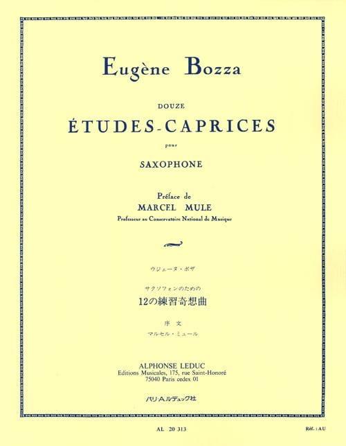12 Etudes-Caprices - Eugène Bozza - Partition - laflutedepan.com