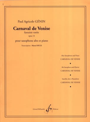 Carnaval de Venise Opus 14 - Paul Agricol Genin - laflutedepan.com