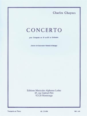 Charles Chaynes - Concerto - Partition - di-arezzo.co.uk