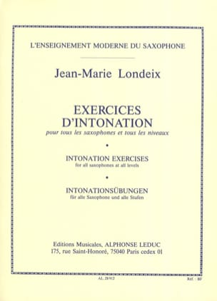 Exercices d'Intonation Jean-Marie Londeix Partition laflutedepan