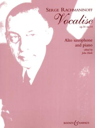 Vocalise Opus 34 N° 14 RACHMANINOV Partition Saxophone - laflutedepan