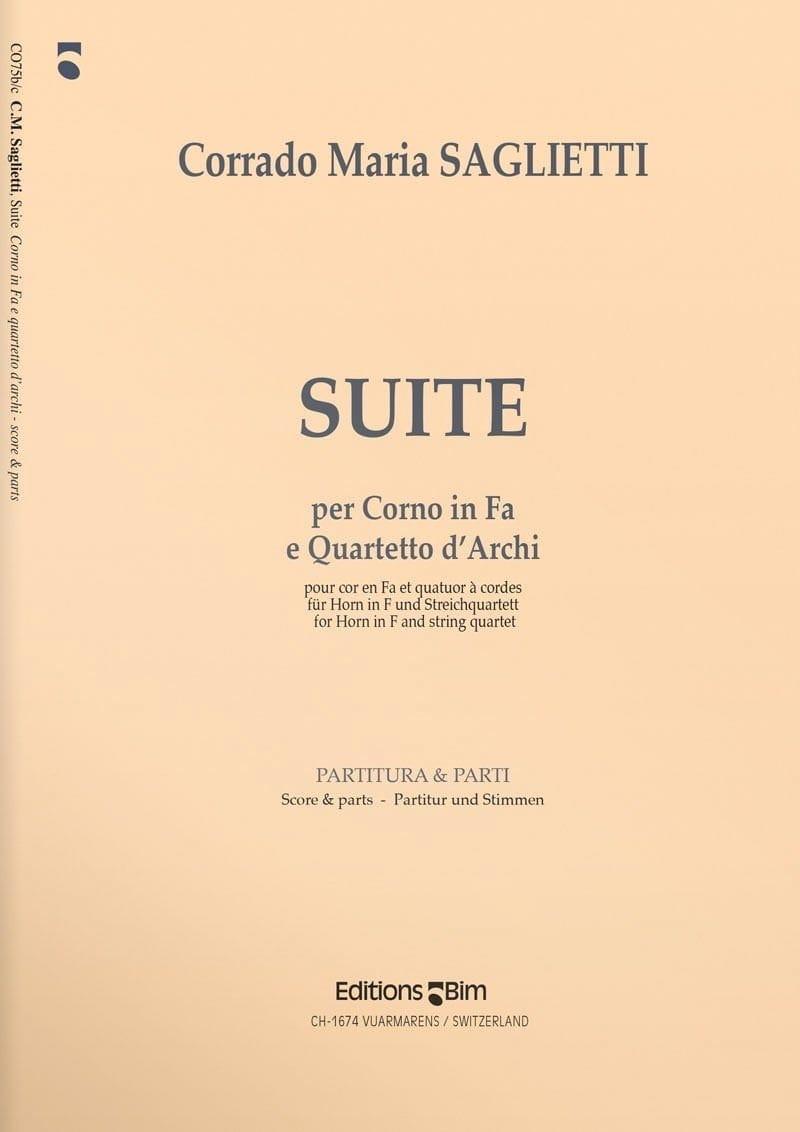 Suite - Corrado Maria Saglietti - Partition - Cor - laflutedepan.com